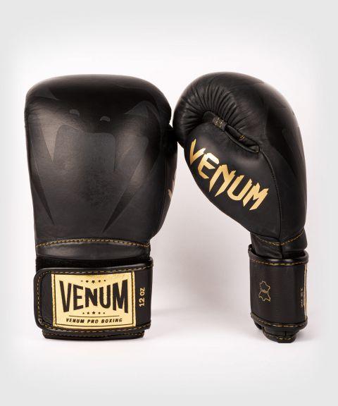 Venum Giant 2.0 Pro Boxing Gloves Velcro - Black/Black-Gold