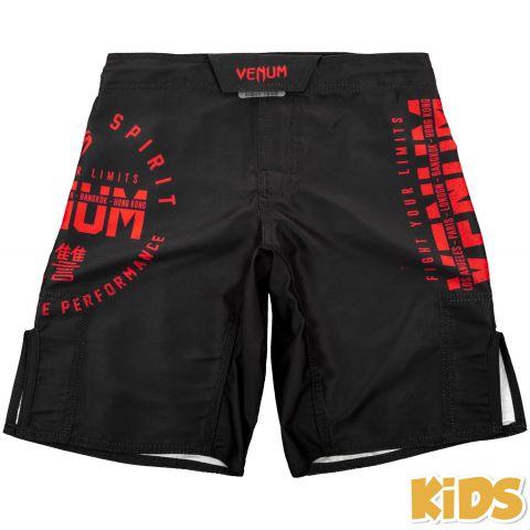 Детские шорты Venum Signature – Черный/Красный