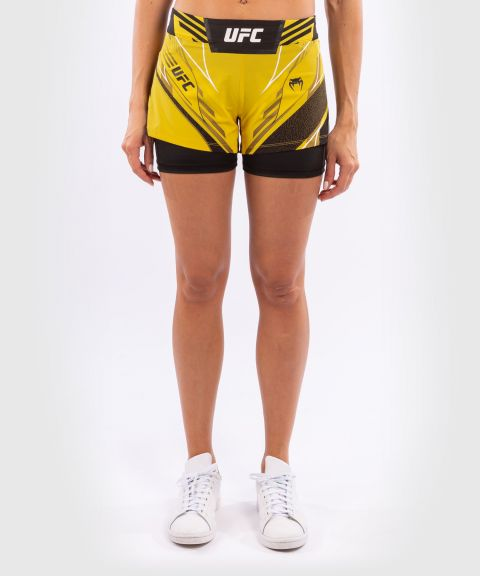 UFC Venum Authentic Fight Night Women's Shorts - Short Fit - Yellow
