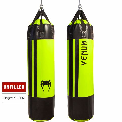 Venum Hurricane Punching Bag - 130 cm - Unfilled - Black/Neo Yellow