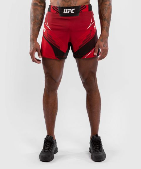 UFC 베넘 어쎈틱 파이트 나이트 남성 쇼츠 - 숏 핏 - 빨간