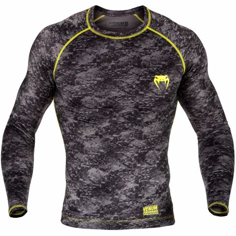 Venum Tramo Rashguard - Long Sleeves - Black/Yellow