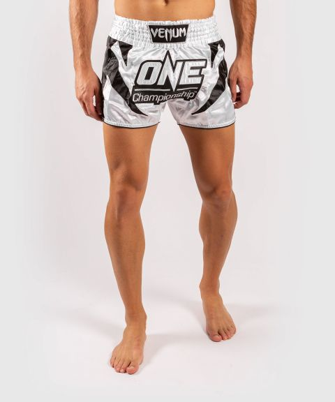 Venum x ONE FC Muay Thai Shorts - White/Black