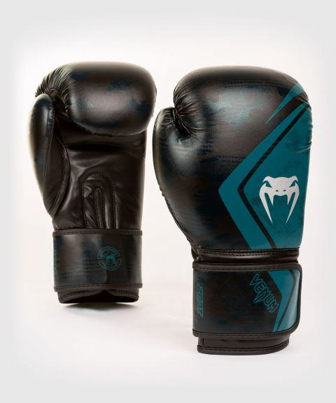 Боксерские перчатки Venum Defender - Black/Green