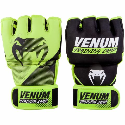Venum Training Camp 2.0 MMA Gloves - Black/Neo Yellow