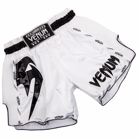Venum Giant Muay Thai Shorts - White/Black