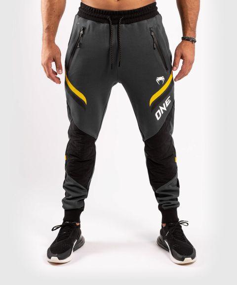 Штаны для бега ONE FC Impact  - Серый/Желтый