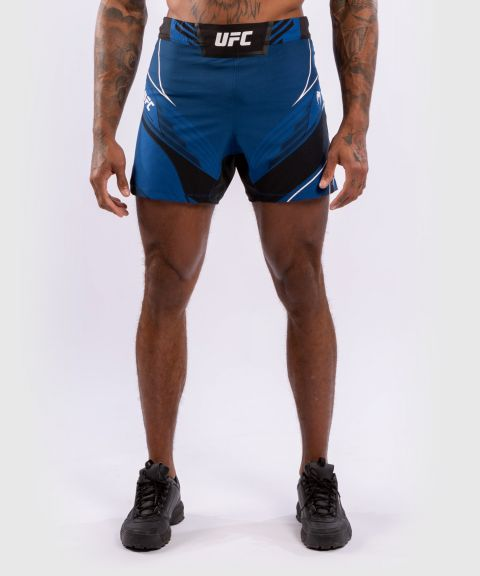 UFC 베넘 어쎈틱 파이트 나이트 남성 쇼츠 - 숏 핏 - 푸른