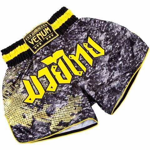 Venum Tramo Muay Thai Shorts - Black/Yellow