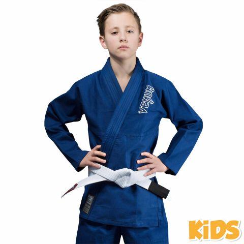 Venum Contender Kids BJJ Gi (Free white belt included) - Blue