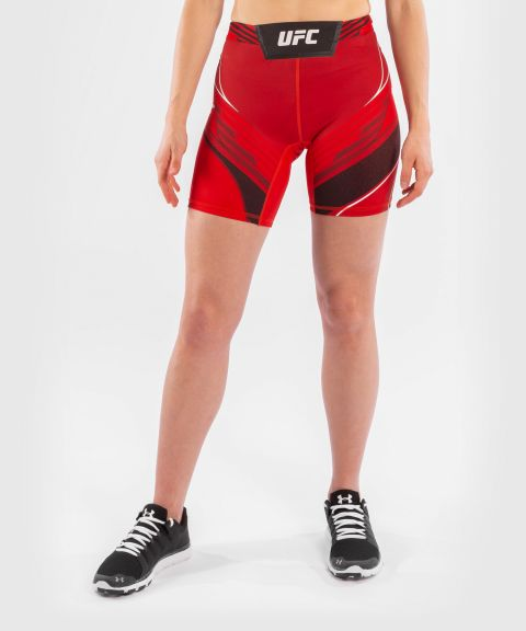 UFC Venum Authentic Fight Night Women's Vale Tudo Shorts - Long Fit - Red