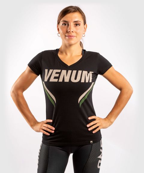 Venum ONE FC Impact T-shirt - for women - Black/Khaki