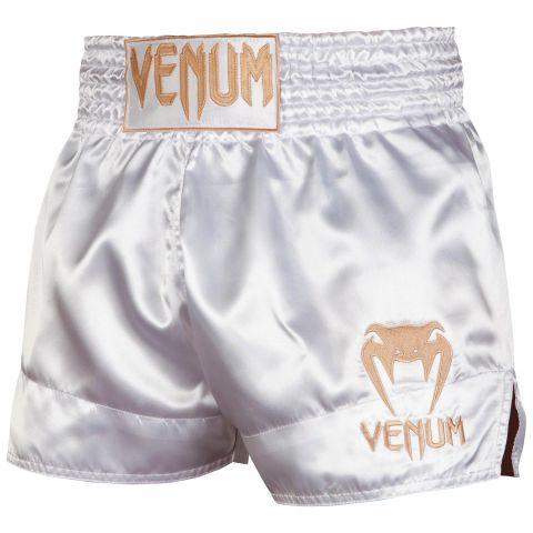 Шорты для тайского бокса Venum Classic - Белый/Золотой