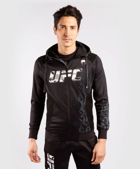 UFC Venum Authentic Fight Week Men's Zip Hoodie - Black