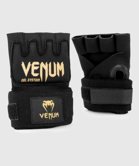 Venum Kontact Gel Glove Wraps - Black/Gold