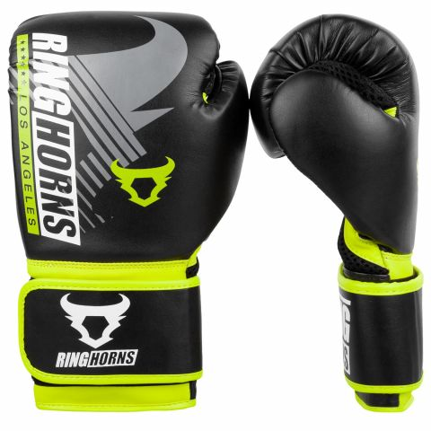 Ringhorns Charger MX Boxing Gloves - Black/Neo Yellow