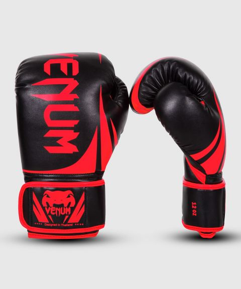 Venum Challenger 2.0 Boxing Gloves - Black/Red - Exclusive