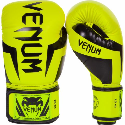 Venum Elite Boxing Gloves - Neo Yellow