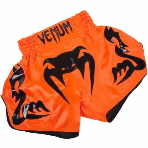 Venum Bangkok Inferno Muay Thai Shorts - Neo Orange/Black