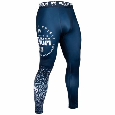 Venum Signature Spats - Navy Blue/White