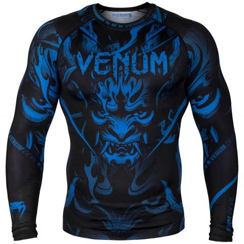 Venum Devil Rashguard - Long Sleeves - Navy Blue/Black - L