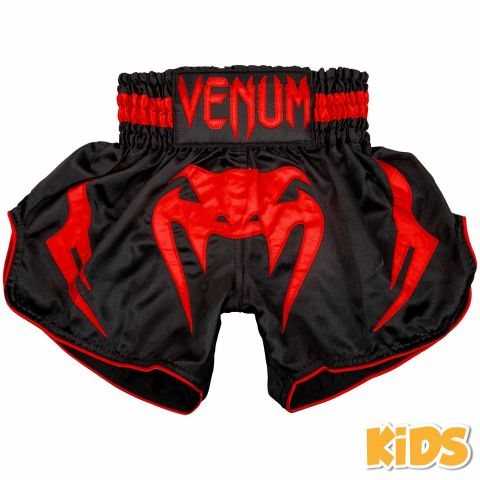 Venum Bangkok Inferno Kids Muay Thai Shorts - Black/Red