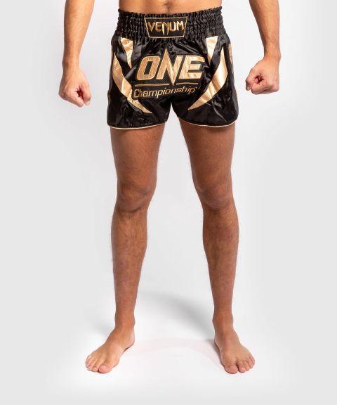 Шорты для тайского бокса Venum x ONE FC  - Черный/Золотой