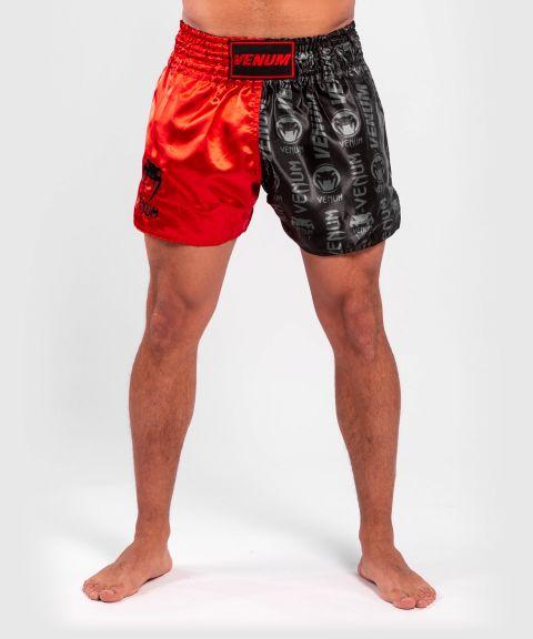 Venum Logos Muay Thai Shorts - Black/Red