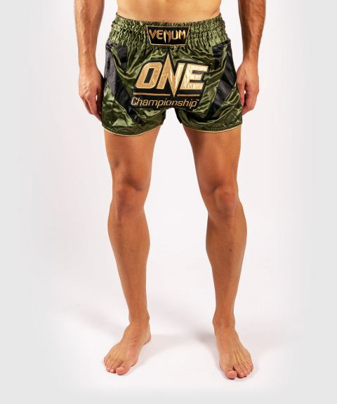 Venum x ONE FC Muay Thai Shorts - Khaki/Gold