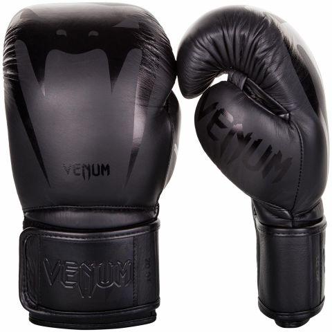 Боксерские перчатки Venum Giant 3.0 - Кожа Наппа - Черный/Черный