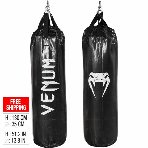 Venum Challenger Punching Bag - Black - 130cm - Unfilled