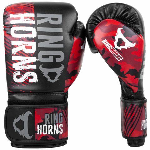 Боксерские перчатки Ringhorns Charger Camo - Черный/Красный