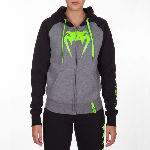 Venum Infinity Hoodie with Zip - Grey/Black