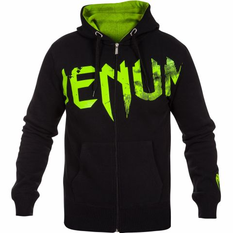 Venum Undisputed Hoodie - Black/Neo Yellow