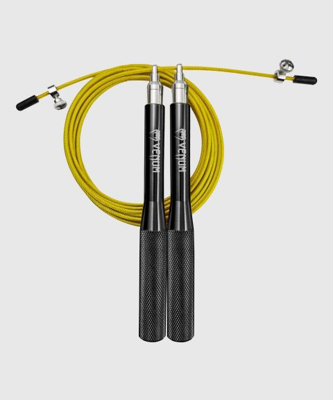 Venum Thunder Evo Jump Rope - Black/Neo Yellow - Taille Unique