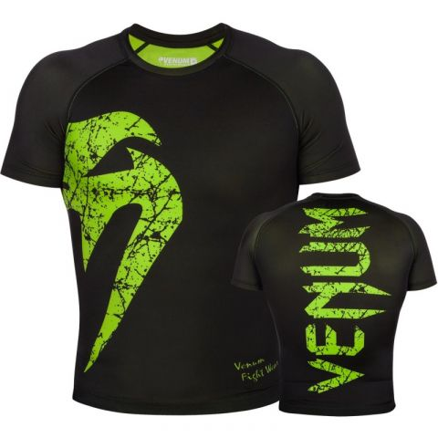 Venum Original Giant Rashguard - Short Sleeves - Black/Yellow