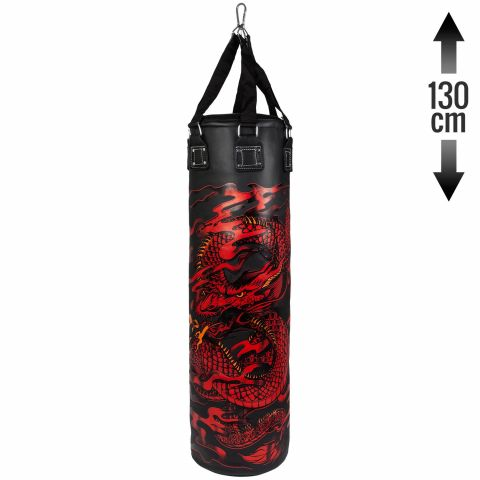 Venum Dragon's Flight Heavy Bag - Black/Red - Unfilled - 130cm