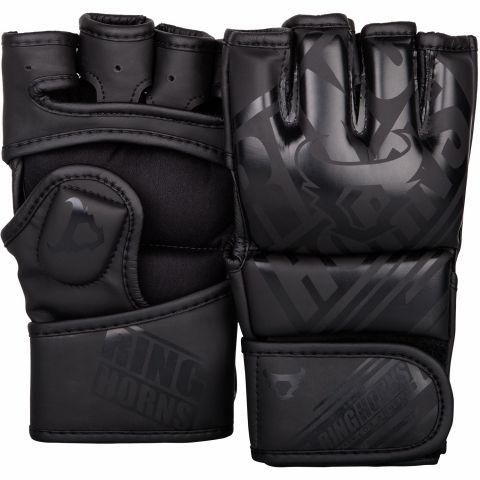 Перчатки для смешанных боевых искусств Ringhorns Nitro – черные/черные