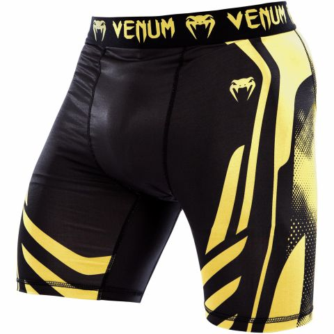 Venum Technical Compression Shorts - Black/Yellow