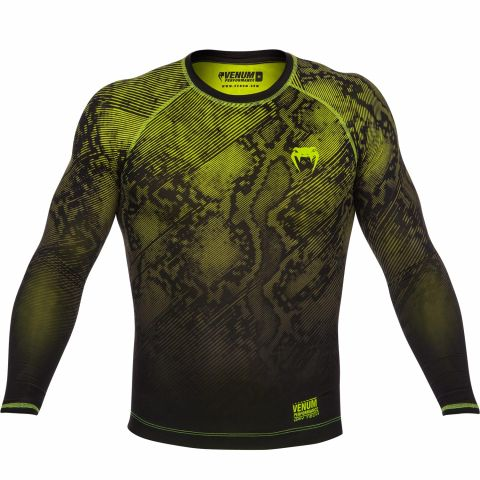 Venum Fusion Compression T-shirt - Long Sleeves - Black/Yellow