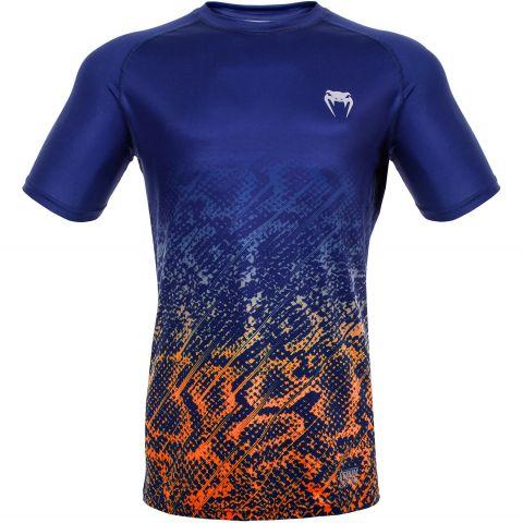Venum Tropical Dry Tech T-Shirt - Blue/Orange