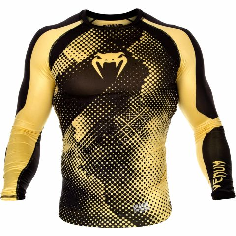 Venum Technical Compression T-shirt - Long Sleeves - Black/Yellow