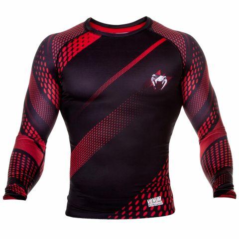 Venum Rapid Rashguard - Long Sleeves - Black/Red