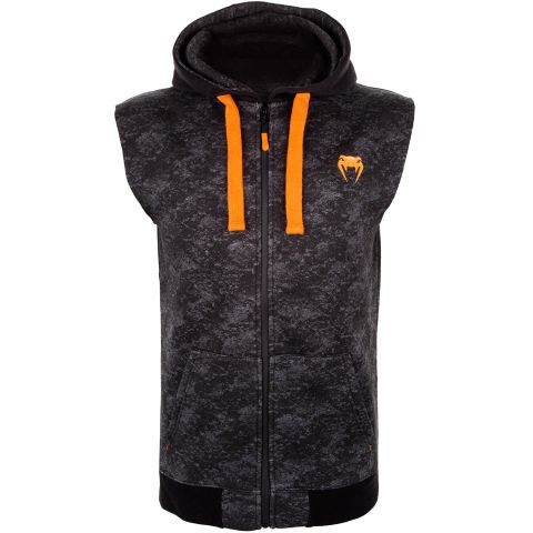 Venum Tramo Sleeveless Hoodie - Black/Grey