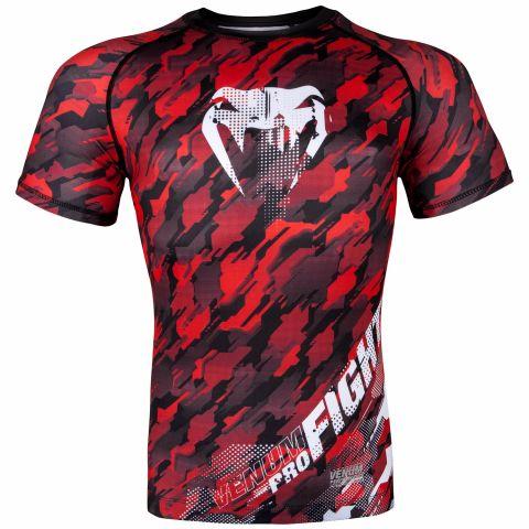 Venum Tecmo Rashguard - Short Sleeves - Red/White