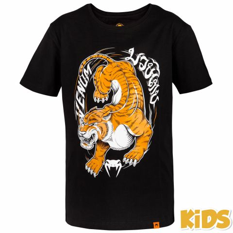 Venum Tiger King Kids T-shirt - Black