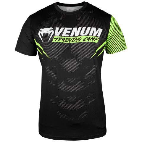 Venum Training Camp 2.0 Dry Tech T-shirt - Black/Neo Yellow - Exclusive