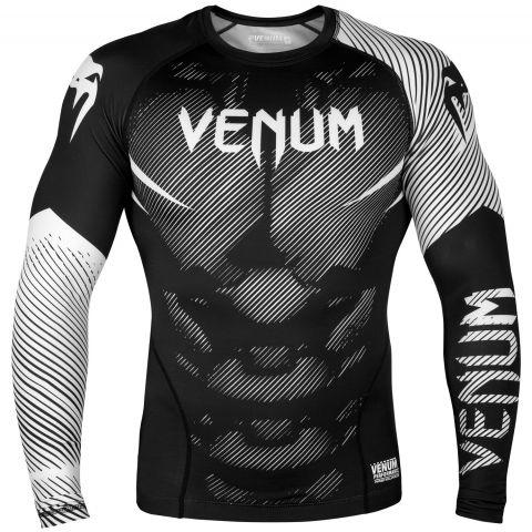 Venum NoGi 2.0 Rashguard - Long Sleeves - Black/White