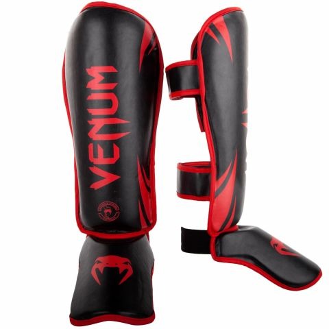 Venum Challenger Standup Shin guards - Black/Red - Exclusive