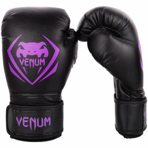 Venum Contender Boxing Gloves - Black/Purple